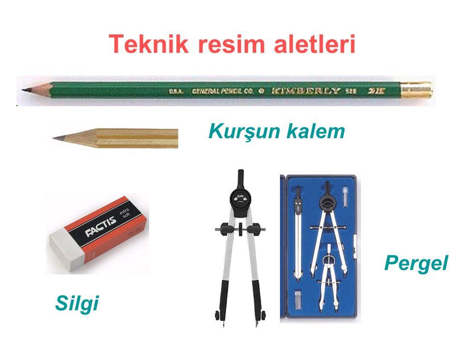 Teknik resim aletleri Kurşun kalem Silgi Pergel
