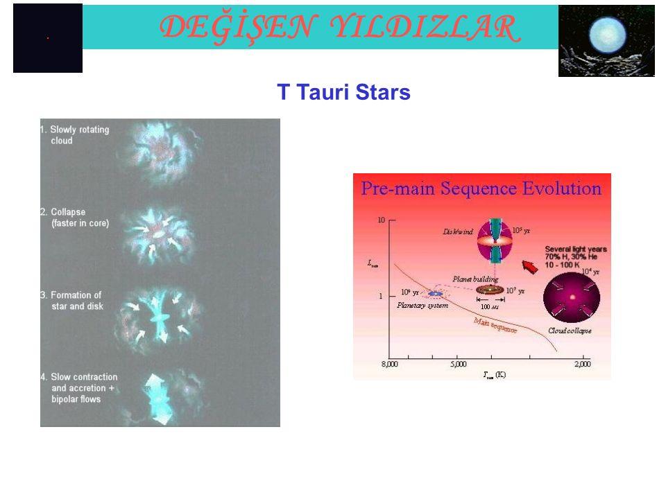 T Tauri Stars DEĞİŞEN YILDIZLAR