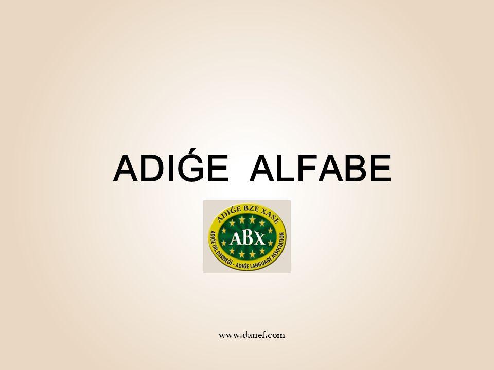 ADIǴE ALFABE www.danef.com