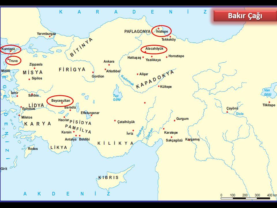 b. Maden Çağı (MÖ 5500 - 1200) Bakır (Kalkolitik) Çağı: Taş Çağının sonlarına doğru maden keşfedilmiştir. İnsanların ilk buldukları ve kullandıkları m