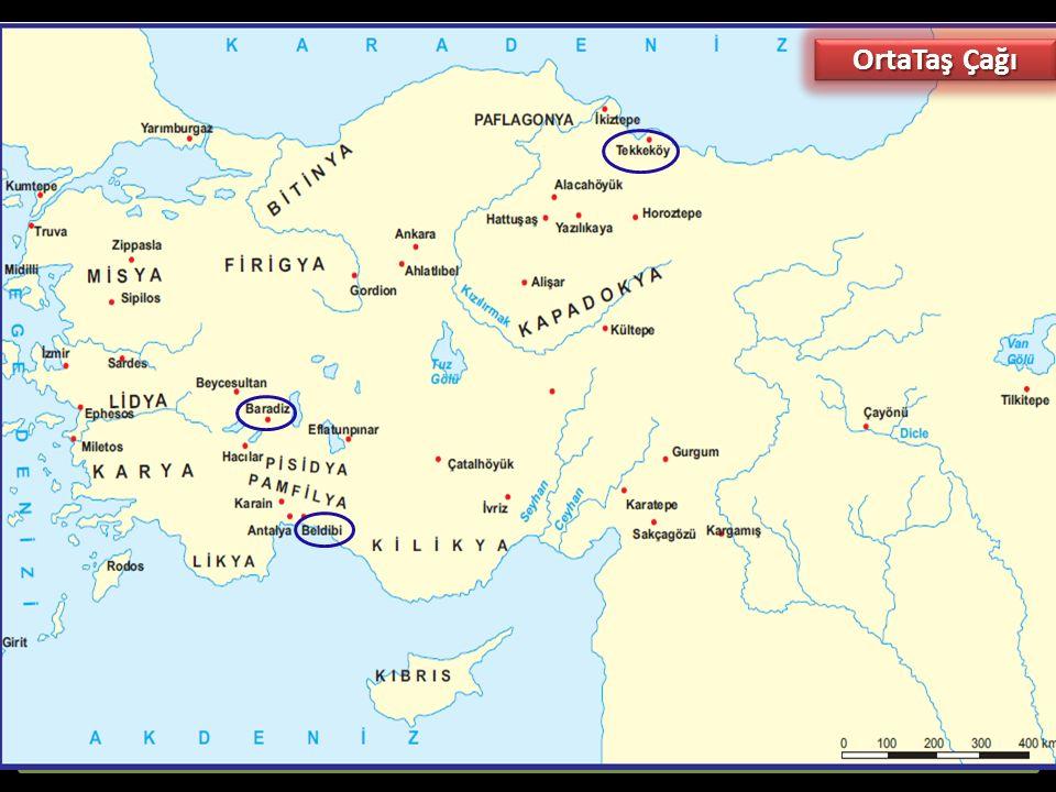 Orta Taş (Mezolotik-Yontmataş) Çağı (MÖ 10.000 - 8.000): Taşlar yontularak kullanıldığı için bu isim verilmiştir. Bu dönemde insanlar, Eski Taş Çağınd