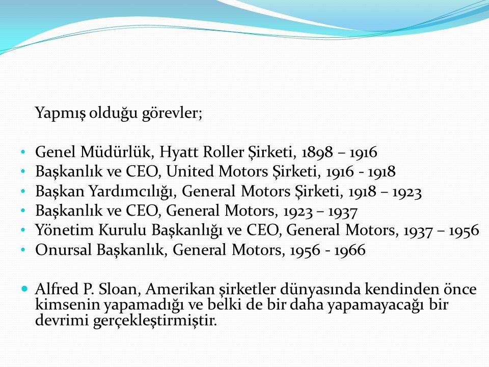 Yapmış olduğu görevler; Genel Müdürlük, Hyatt Roller Şirketi, 1898 – 1916 Başkanlık ve CEO, United Motors Şirketi, 1916 - 1918 Başkan Yardımcılığı, Ge