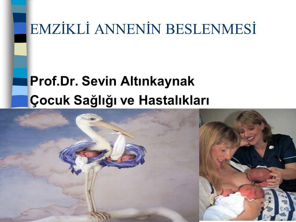 Türkiye Beslenme ve Sağlık Araştırması Kızların %98 Erkek %98 emziriliyor Kentlerde %97.3 Kırsal kesimde %98.2 Toplam emzirme süresi 14.5 ay 2.ay %68.9, 4- 5 ay %21.9 6 ay AS %20.8 6.