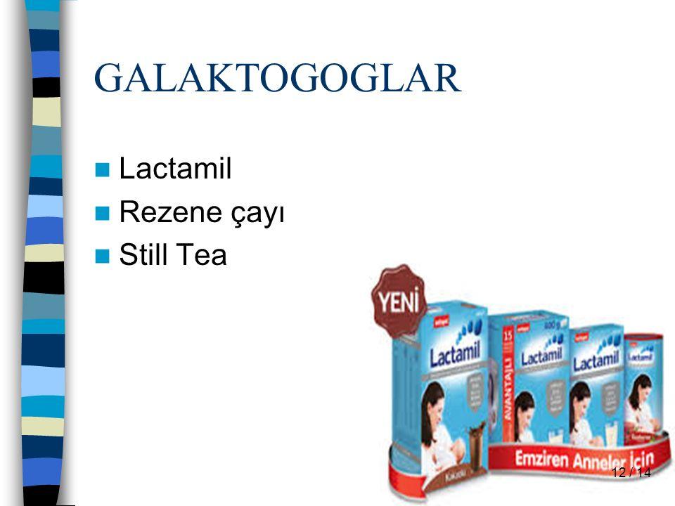 GALAKTOGOGLAR Lactamil Rezene çayı Still Tea 12 / 14