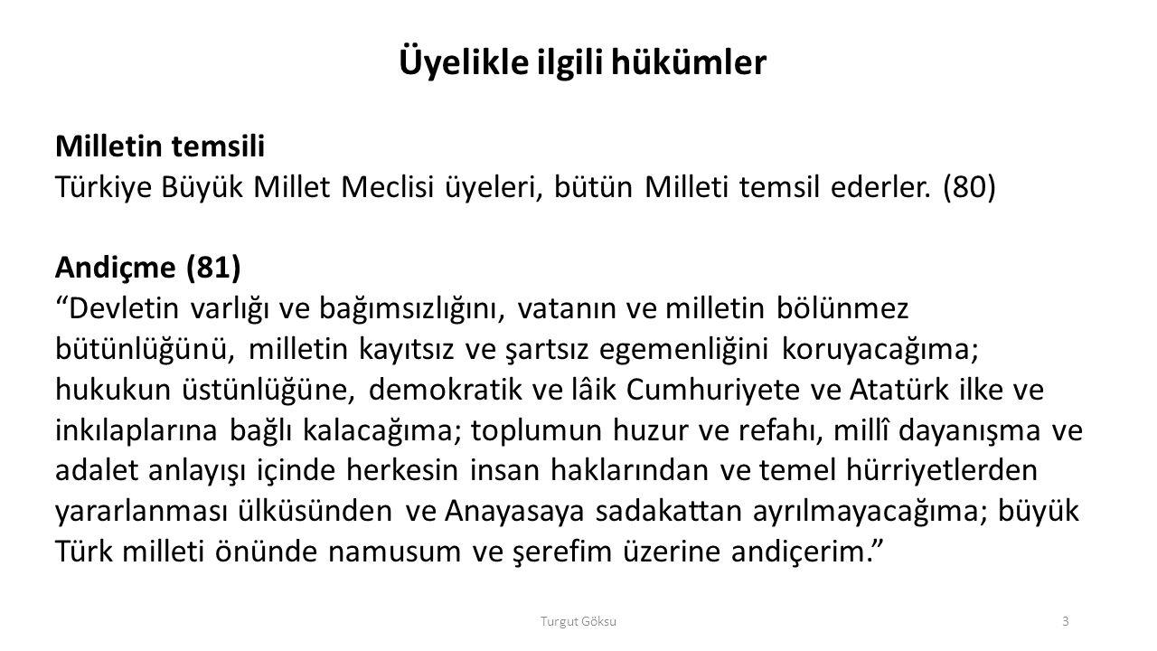 Turgut Göksu24 IV.Türkiye Büyük Millet Meclisinin bilgi edinme ve denetim yolları A.