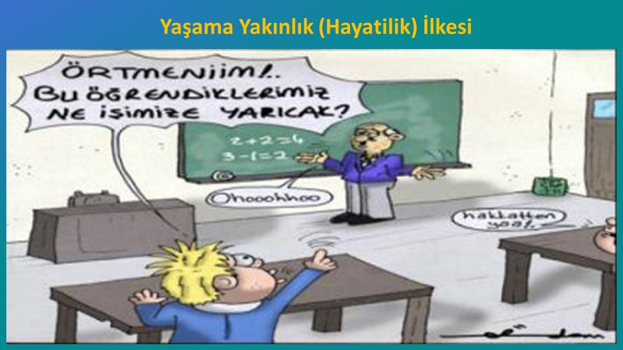 Recep Tayyip Erdoğan Üniversitesi Eğitim Fakültesi Pedagojik Formasyon E ğ itimi Sertifika Programı ……Ders Notları ı Yaşama Yakınlık (Hayatilik) İlkesi