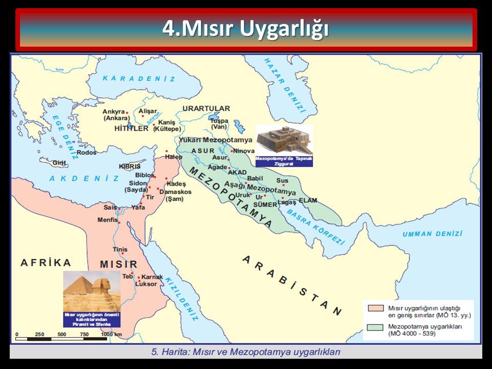 Mısır'da ilk yerleşmeler Nil Nehri kıyılarında olmuştur.