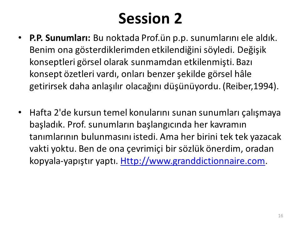 Session 2 P.P. Sunumları: Bu noktada Prof.ün p.p.