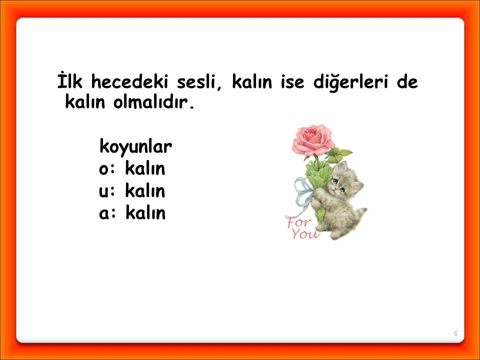 """Arılar çiçeklere konuyor"""" cümlesinde kaç tane kalın ünlü vardır? a) 6 b) 7 c) 5"""