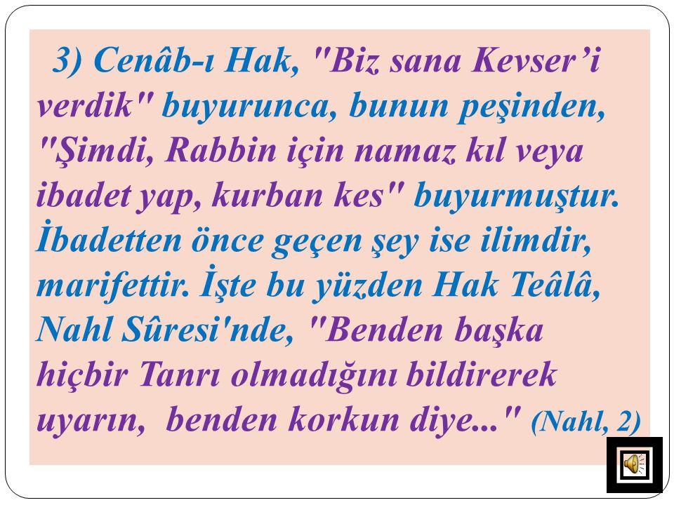 3) Cenâb-ı Hak,