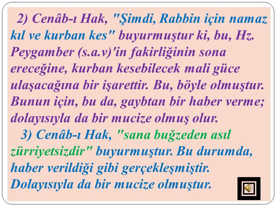 2) Cenâb-ı Hak,