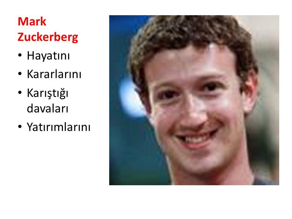 Mark Zuckerberg Hayatını Kararlarını Karıştığı davaları Yatırımlarını