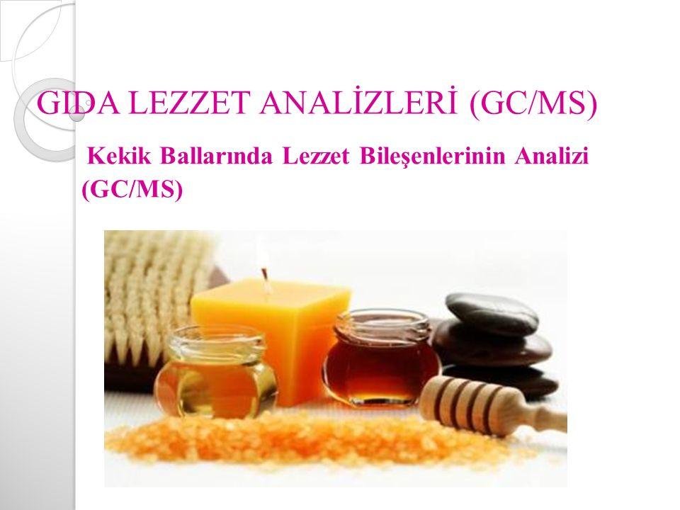 GIDA LEZZET ANALİZLERİ (GC/MS) Kekik Ballarında Lezzet Bileşenlerinin Analizi (GC/MS)