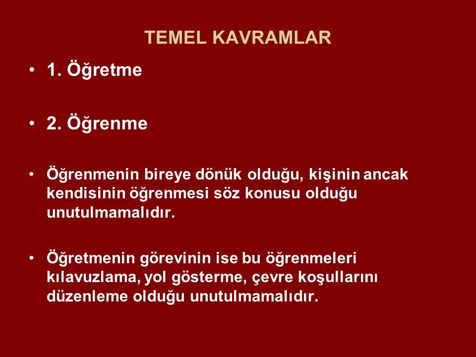 TEMEL KAVRAMLAR 1.Öğretme 2.