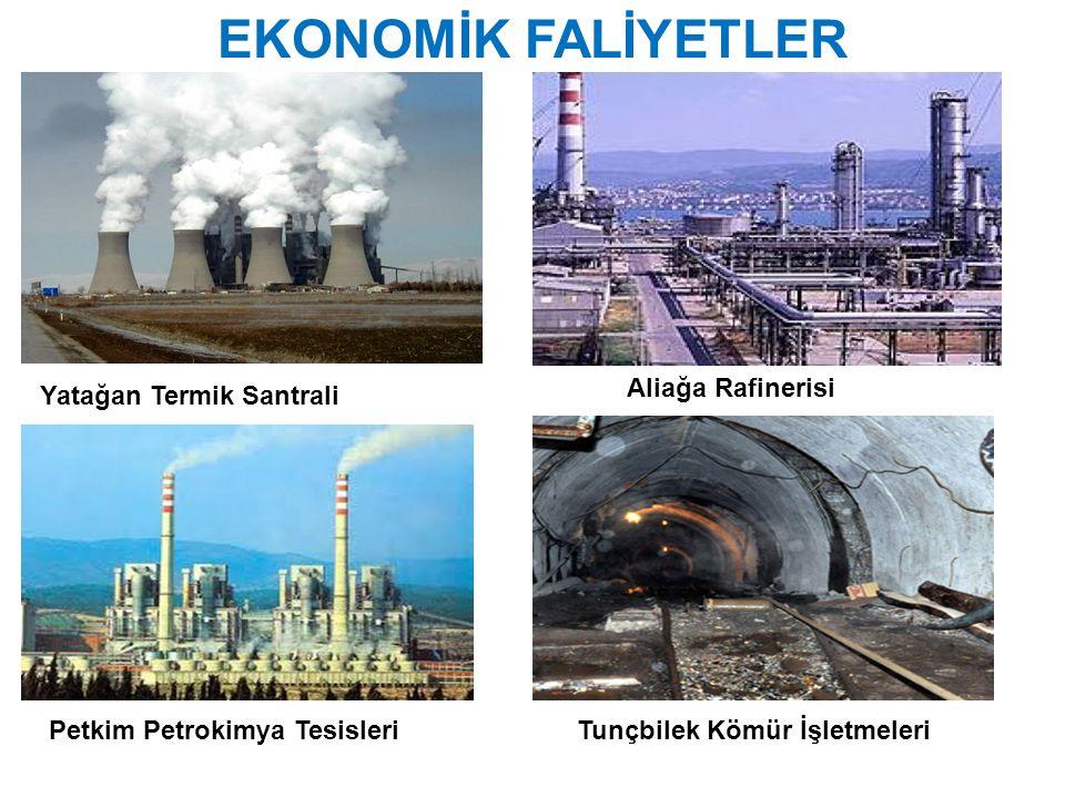 EKONOMİK FALİYETLER Yatağan Termik Santrali Aliağa Rafinerisi Tunçbilek Kömür İşletmeleriPetkim Petrokimya Tesisleri