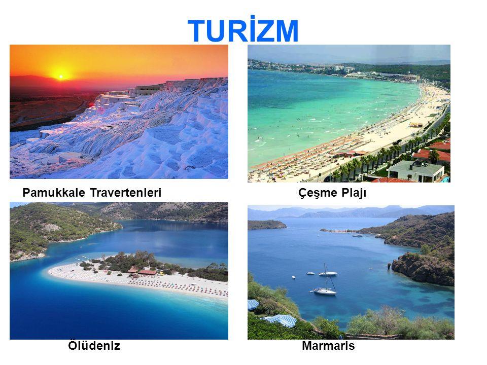 TURİZM Pamukkale TravertenleriÇeşme Plajı ÖlüdenizMarmaris