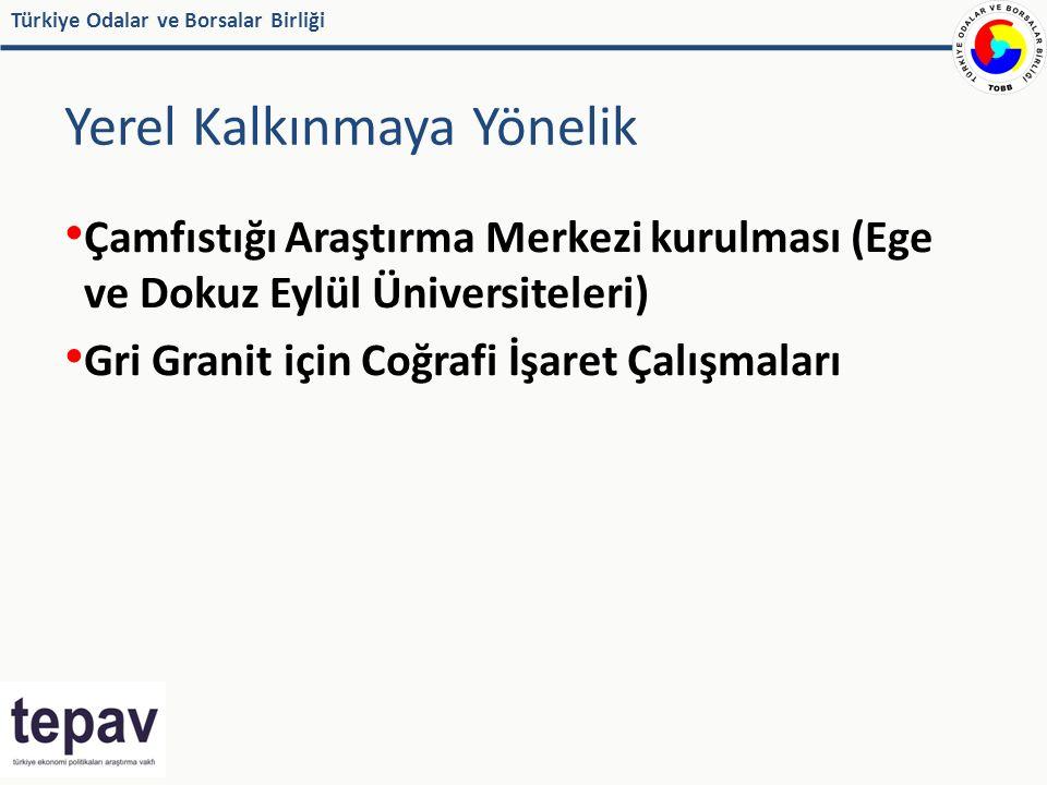 Türkiye Odalar ve Borsalar Birliği Yerel Kalkınmaya Yönelik Çamfıstığı Araştırma Merkezi kurulması (Ege ve Dokuz Eylül Üniversiteleri) Gri Granit için Coğrafi İşaret Çalışmaları