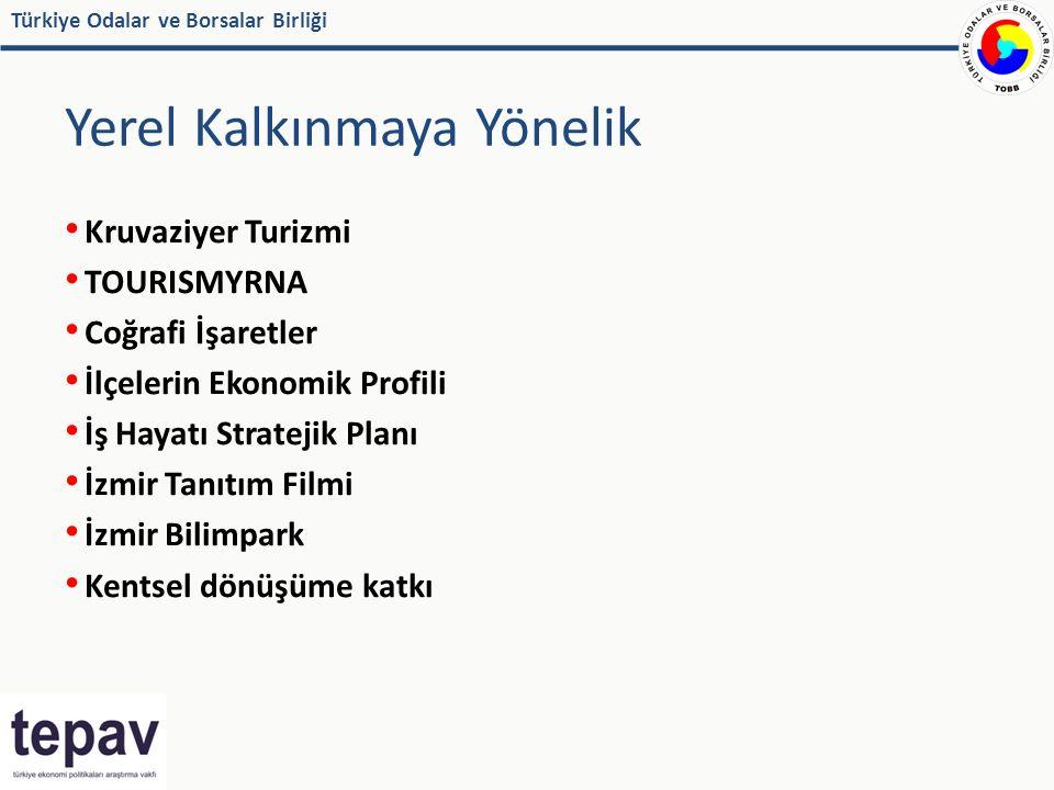Türkiye Odalar ve Borsalar Birliği Yerel Kalkınmaya Yönelik Kruvaziyer Turizmi TOURISMYRNA Coğrafi İşaretler İlçelerin Ekonomik Profili İş Hayatı Stratejik Planı İzmir Tanıtım Filmi İzmir Bilimpark Kentsel dönüşüme katkı