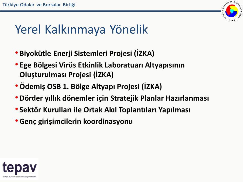 Türkiye Odalar ve Borsalar Birliği Yerel Kalkınmaya Yönelik Biyokütle Enerji Sistemleri Projesi (İZKA) Ege Bölgesi Virüs Etkinlik Laboratuarı Altyapısının Oluşturulması Projesi (İZKA) Ödemiş OSB 1.