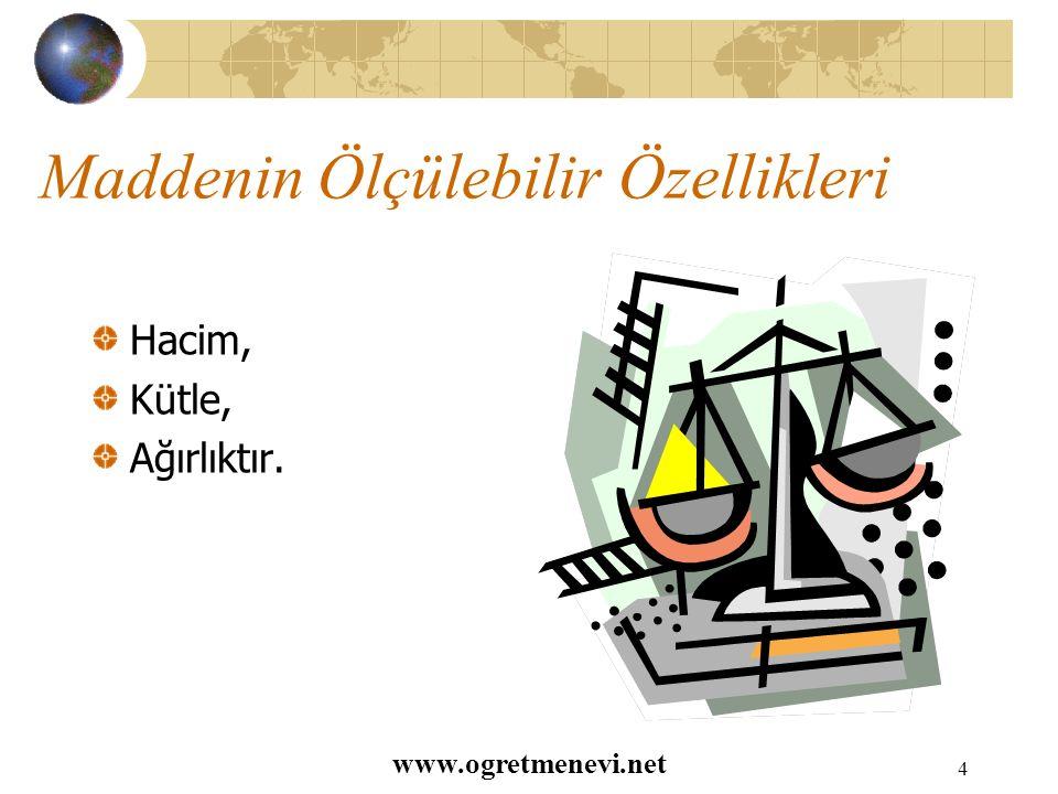 www.ogretmenevi.net 3 Cisim Maddelerin şekil almış haline cisim denir.