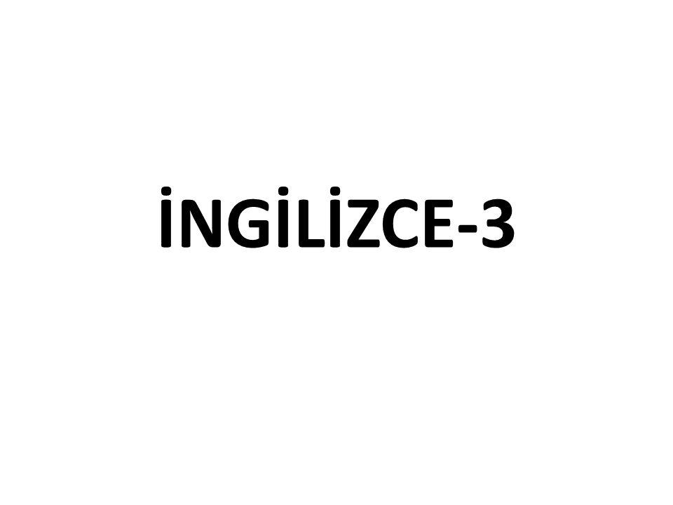 İNGİLİZCE-3