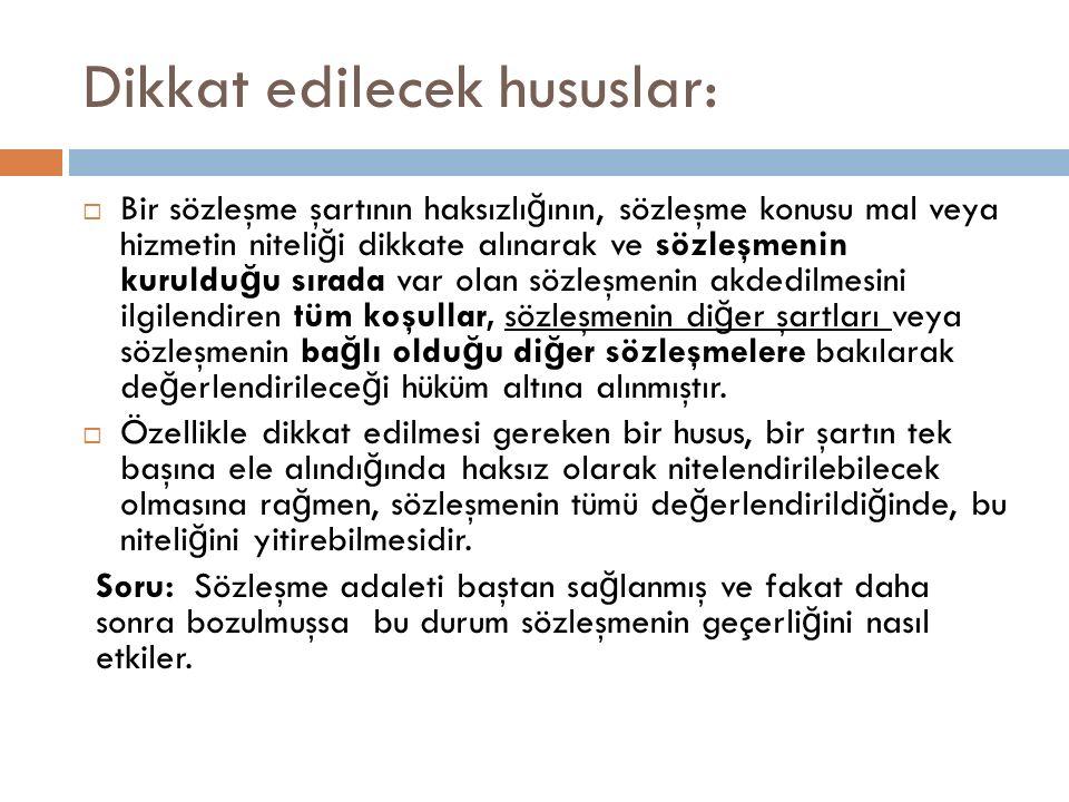 Ayıp kavramının genişletilmesi  TKHK m.8, f.