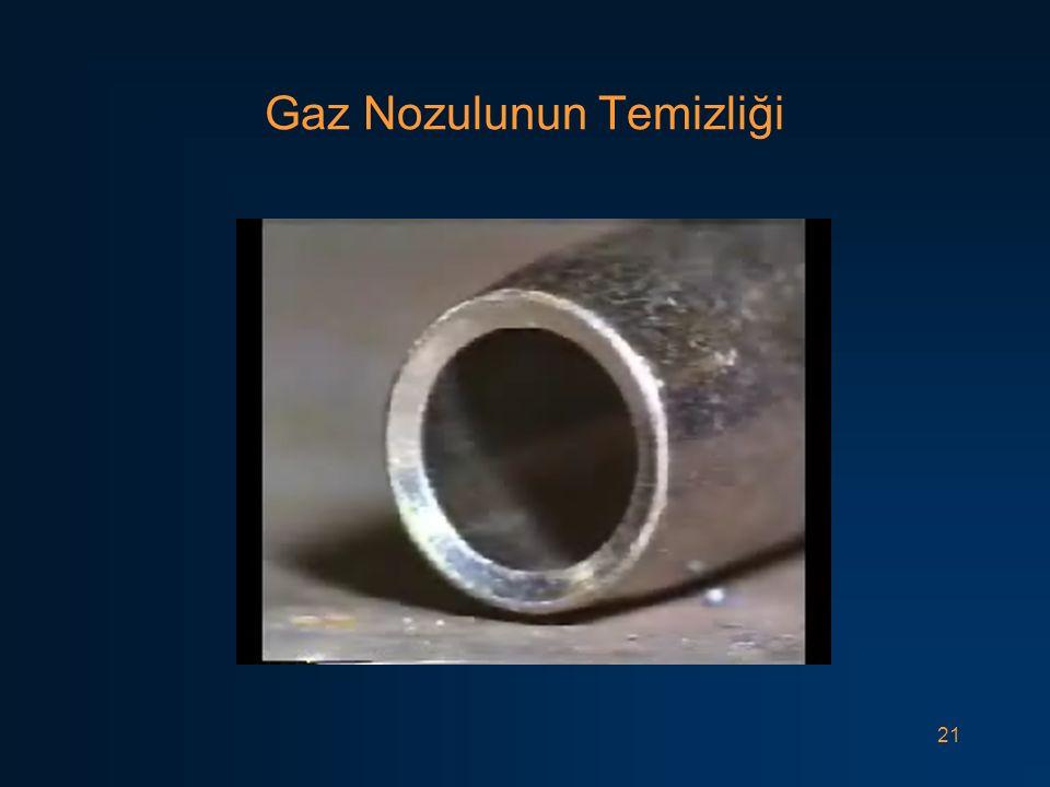 21 Gaz Nozulunun Temizliği