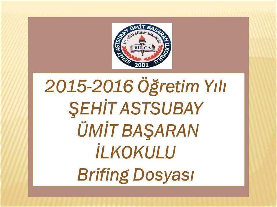 2015-2016 Öğretim Yılı ŞEHİT ASTSUBAY ÜMİT BAŞARAN İLKOKULU Brifing Dosyası