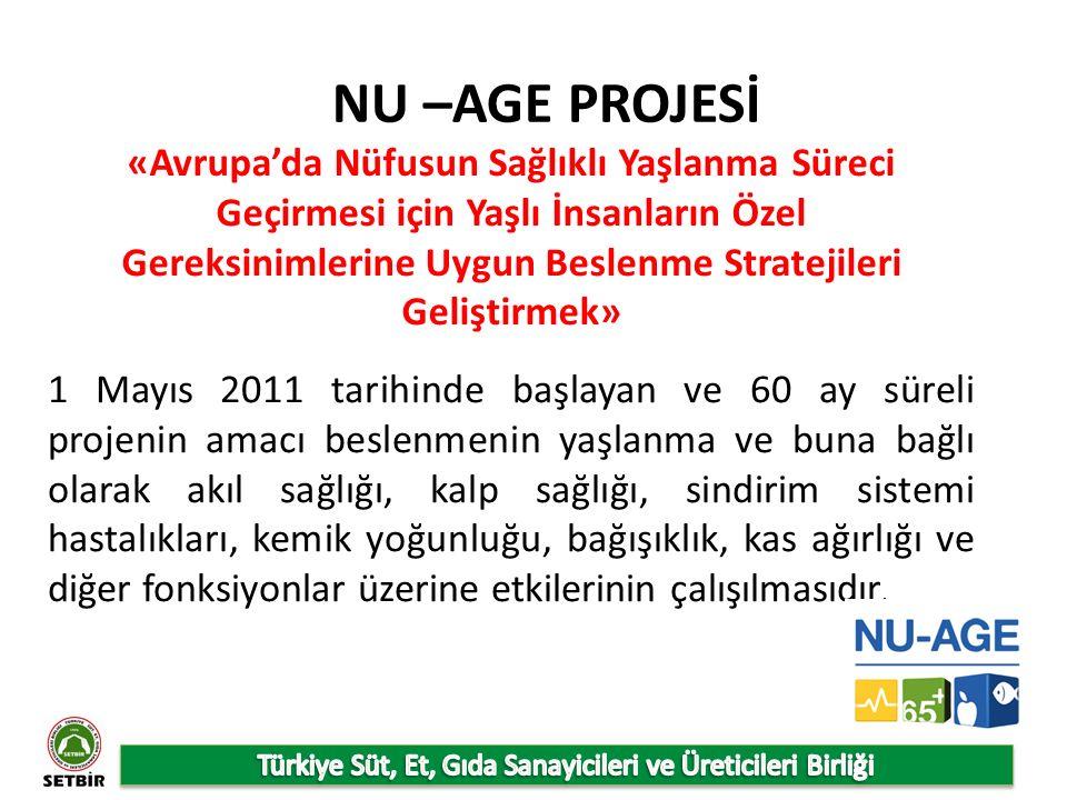 NU –AGE PROJESİ «Avrupa'da Nüfusun Sağlıklı Yaşlanma Süreci Geçirmesi için Yaşlı İnsanların Özel Gereksinimlerine Uygun Beslenme Stratejileri Geliştirmek» 1 Mayıs 2011 tarihinde başlayan ve 60 ay süreli projenin amacı beslenmenin yaşlanma ve buna bağlı olarak akıl sağlığı, kalp sağlığı, sindirim sistemi hastalıkları, kemik yoğunluğu, bağışıklık, kas ağırlığı ve diğer fonksiyonlar üzerine etkilerinin çalışılmasıdır.