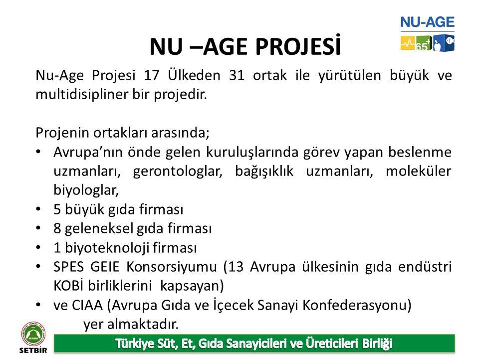 NU –AGE PROJESİ Nu-Age Projesi 17 Ülkeden 31 ortak ile yürütülen büyük ve multidisipliner bir projedir.