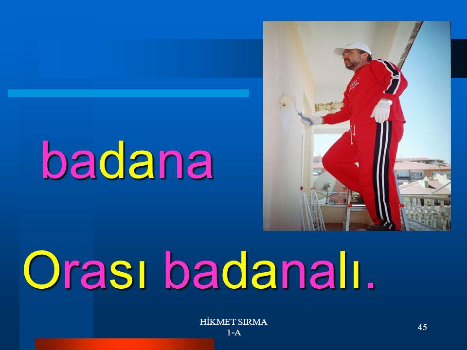 HİKMET SIRMA 1-A 44 bel Oy belim oy!