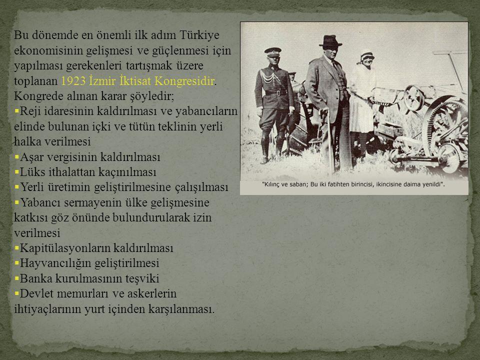 'Tarım kredi kooperatiflerinin az zamanda bütün yurdu kaplamasını, başarıcı gayretinizden bekliyoruz. (Atatürk ün Tamim, Telgraf ve Beyannameleri, s.