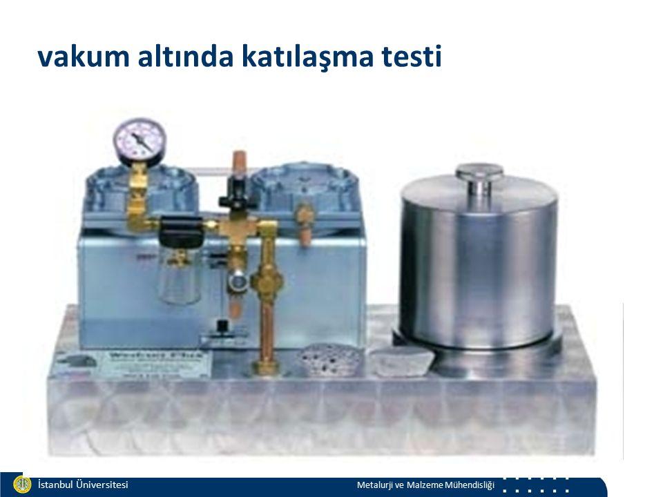 Materials and Chemistry İstanbul Üniversitesi Metalurji ve Malzeme Mühendisliği İstanbul Üniversitesi Metalurji ve Malzeme Mühendisliği vakum altında katılaşma testi katılaşan numune metal kalıp o-ring vakum