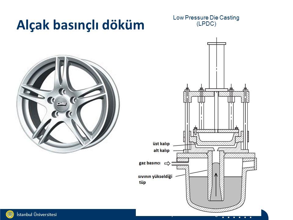 Materials and Chemistry İstanbul Üniversitesi Metalurji ve Malzeme Mühendisliği İstanbul Üniversitesi Metalurji ve Malzeme Mühendisliği Alçak basınçlı döküm Low Pressure Die Casting (LPDC)