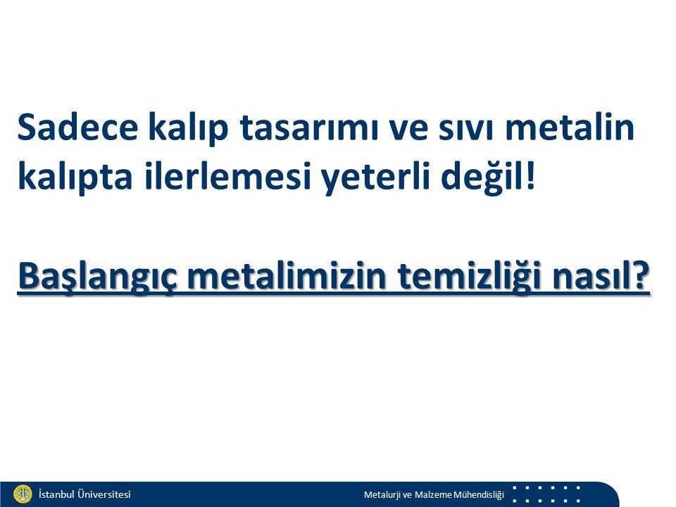 Materials and Chemistry İstanbul Üniversitesi Metalurji ve Malzeme Mühendisliği İstanbul Üniversitesi Metalurji ve Malzeme Mühendisliği Başlangıç metalimizin temizliği nasıl.