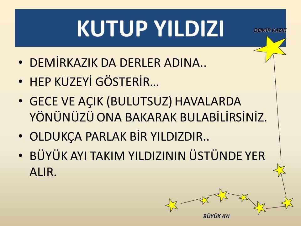 KUTUP YILDIZI DEMİRKAZIK DA DERLER ADINA..