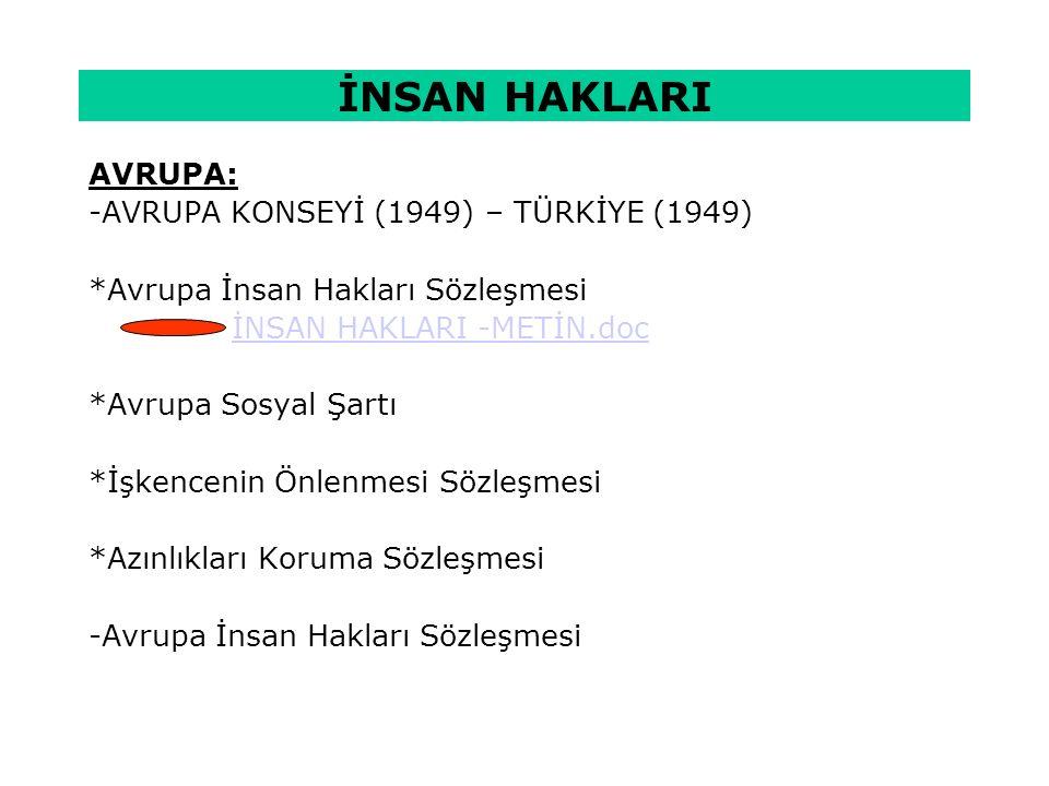 TÜRKİYEDE DURUM: 1839 Tanzimat Fermanı, 1856 Islahat Fermanı, 1876 Anayasası, 1909 II.