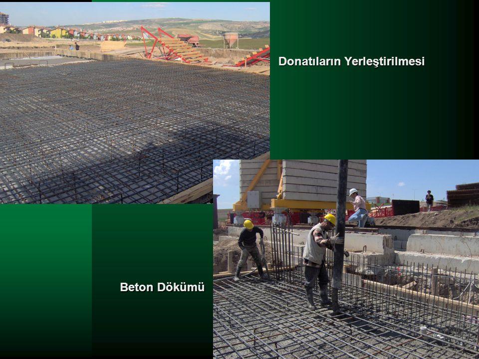 Beton Dökümü Donatıların Yerleştirilmesi