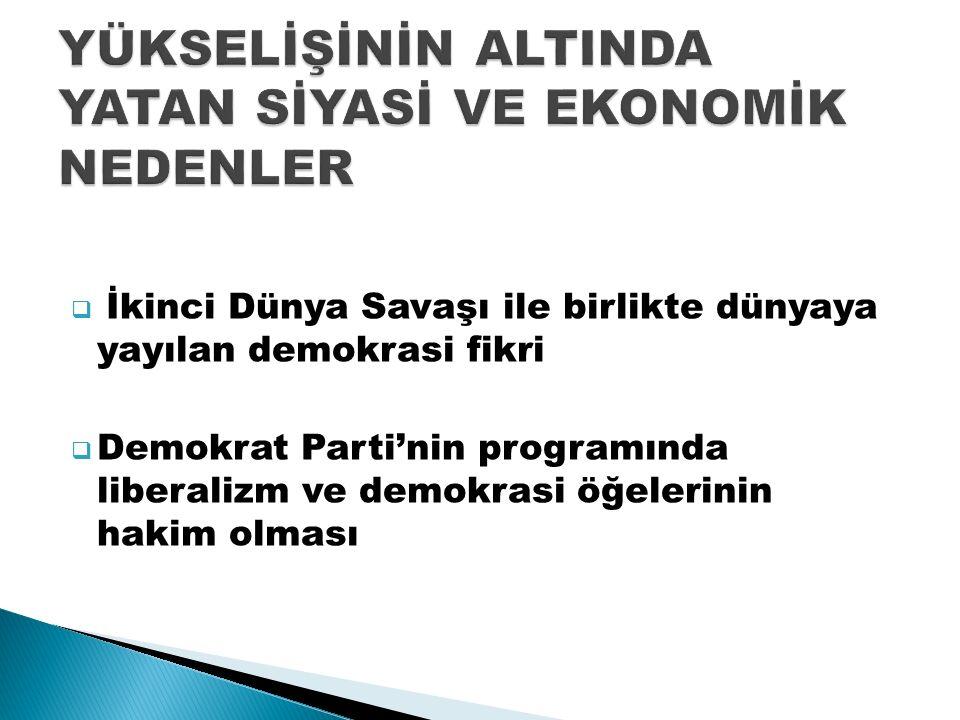  Çağdaş Türkiye Tarihi Araştırmaları Dergisi 2013 bahar /ss:163-184  Demokrat Parti'nin web sitesi:http://www.dp.org.tr/ Ümit Erdoğan'ın ''Demokrat Parti ve 1960 İhtilali'' makalesi:http://www.nigde.edu.tr/  Pınar Kaya Özçelik :'' Demokrat Parti'nin Demokrasi Söylemi''  İ.Ü.