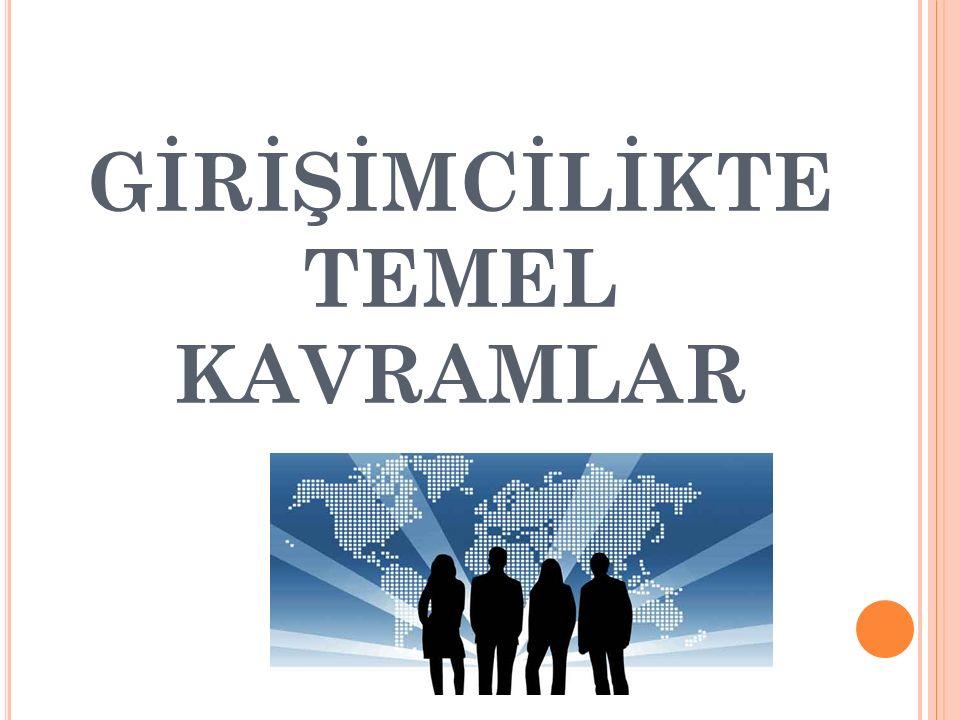 GİRİŞİMCİLİĞİN DESTEKLENMESİ Girişimcilere destek sağlayan kuruluşlar şunlardır: İktisadi Kalkınma Vakfı (İKV) Kadın Emeğini Değerlendirme Vakfı (KEDV) Kredi Garanti Fonu (KGF) Küçük ve Orta Ölçekli İşletmeleri Geliştirme ve Destekleme İdaresi (KOSGEB) Mesleki Eğitimi ve Küçük Sanayi Destekleme Vakfı (MEKSA) Sosyal Yardımlaşma ve Dayanışma Vakıfları Türkiye Bilimsel ve Teknolojik Araştırma Kurumu (TÜBİTAK