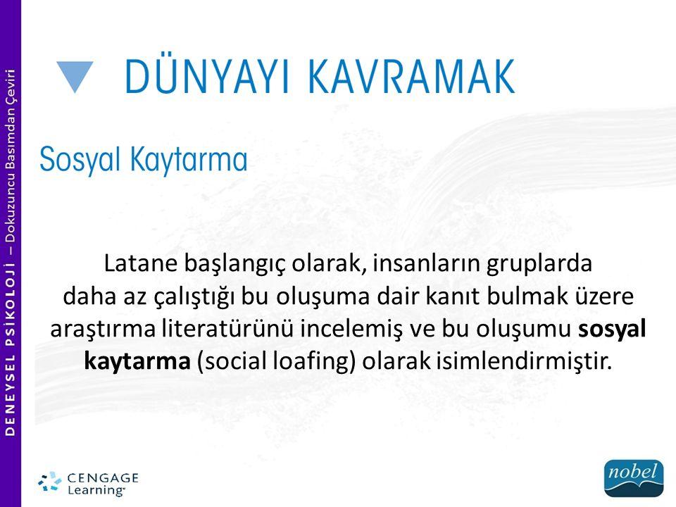 Latané, çalışmalarını daha genel bir kuram olan insan sosyal davranış kuramıyla ilişkilendirmiştir.