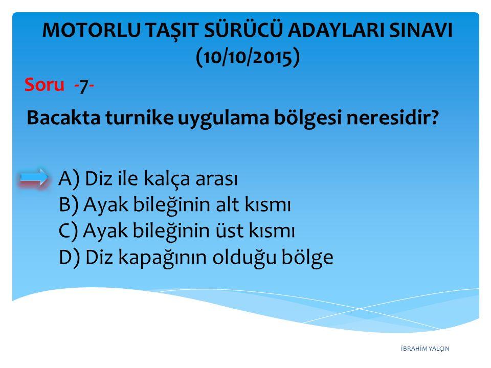 İBRAHİM YALÇIN MOTORLU TAŞIT SÜRÜCÜ ADAYLARI SINAVI (10/10/2015) Soru -28- Şekildeki devamlı yol çizgisi, sürücülere aşağıdakilerden hangisini bildirir.