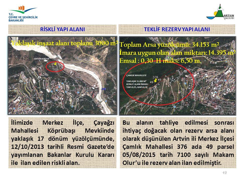 49 İlimizde Merkez İlçe, Çayağzı Mahallesi Köprübaşı Mevkiinde yaklaşık 17 dönüm yüzölçümünde, 12/10/2013 tarihli Resmi Gazete'de yayımlanan Bakanlar