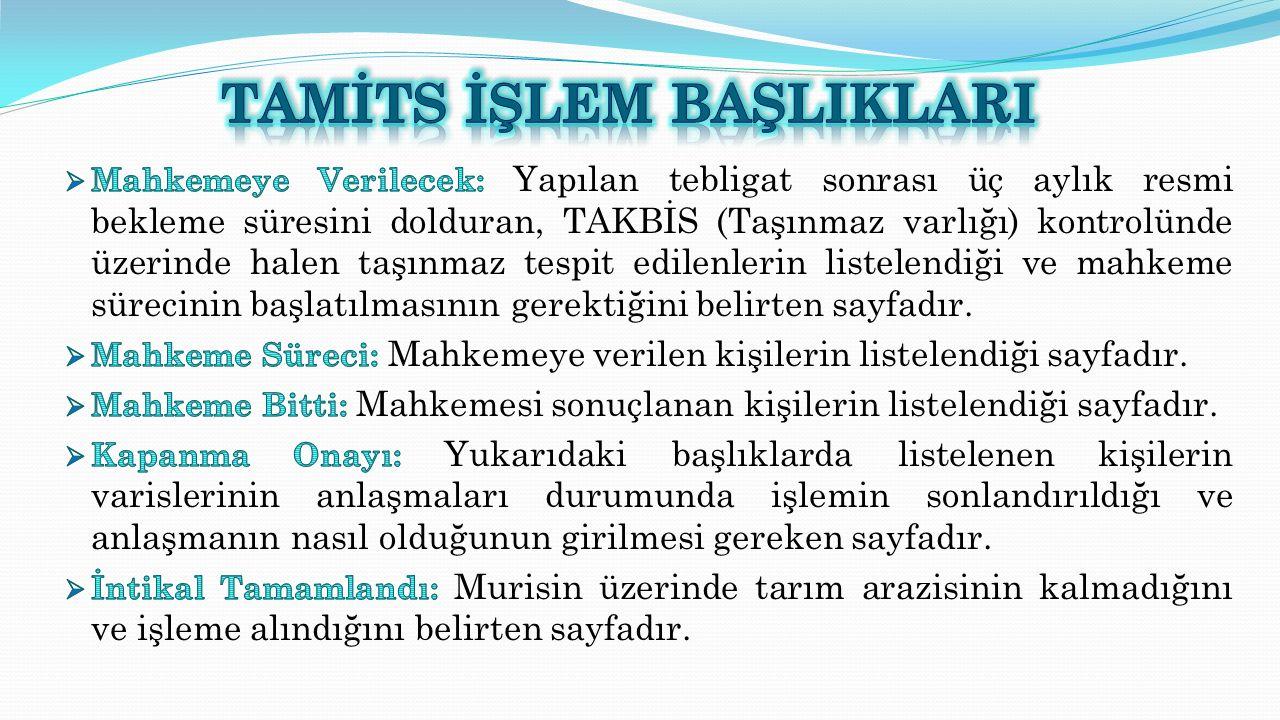 Mahkeme Süreci Mahkemeye verilen kişilerin listelendiği sayfadır.