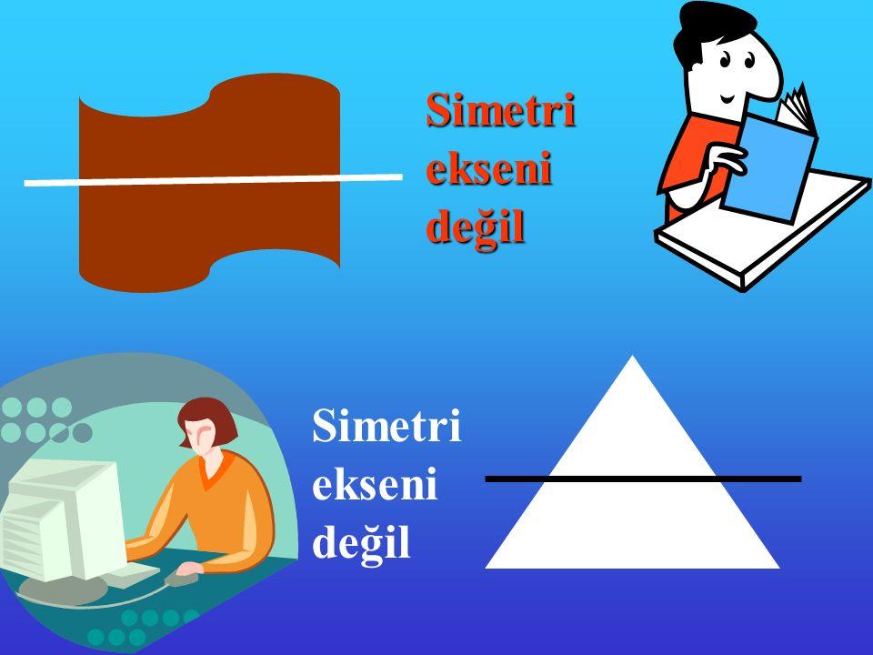Simetrieksenideğil Simetri ekseni değil