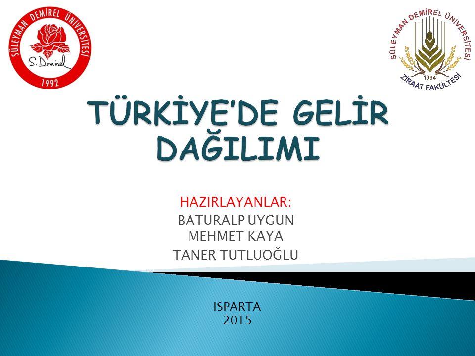  Gelir ve Gelir Dağılımı  Gelir Dağılımına Etki Eden Faktörler  Bölgesel Gelir Dağılımı  Türkiye'de Adaletsiz Gelir Dağılımı İçin Alınabilecek Önlemler  Seçilmiş İstatistiki Veriler  Sonuç  Kaynaklar 2