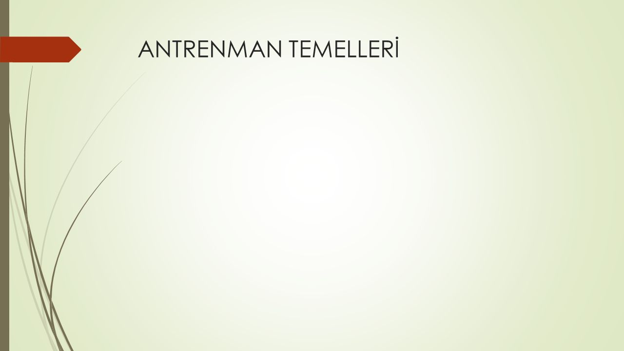 ANTRENMAN TEMELLERİ