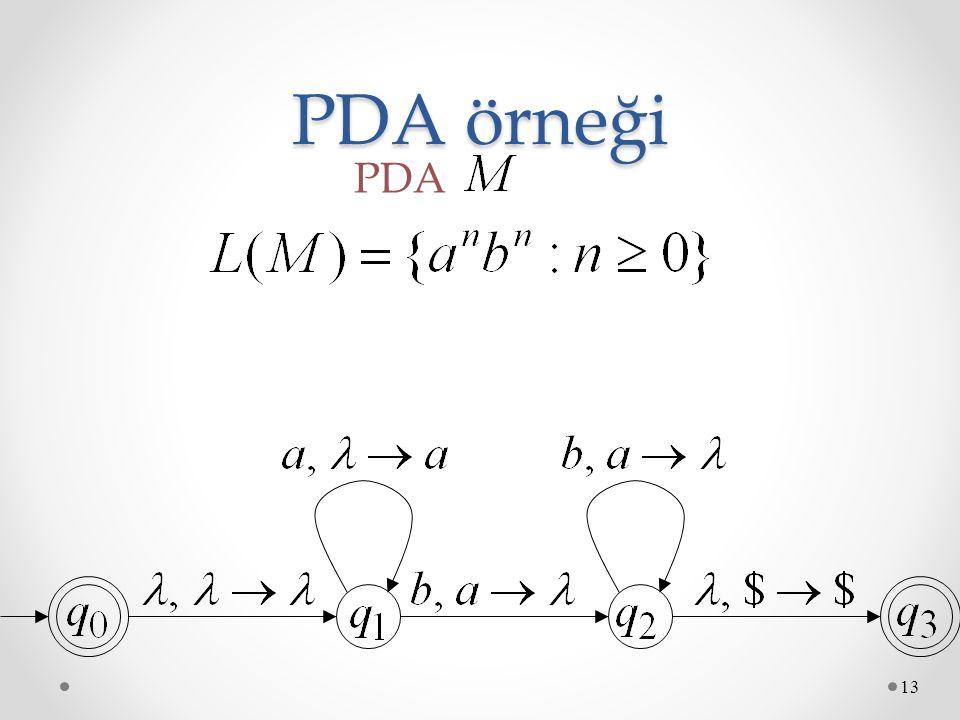 PDA örneği 13 PDA