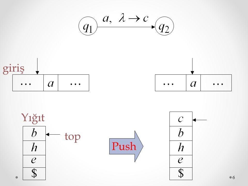 6 Push top giriş Yığıt