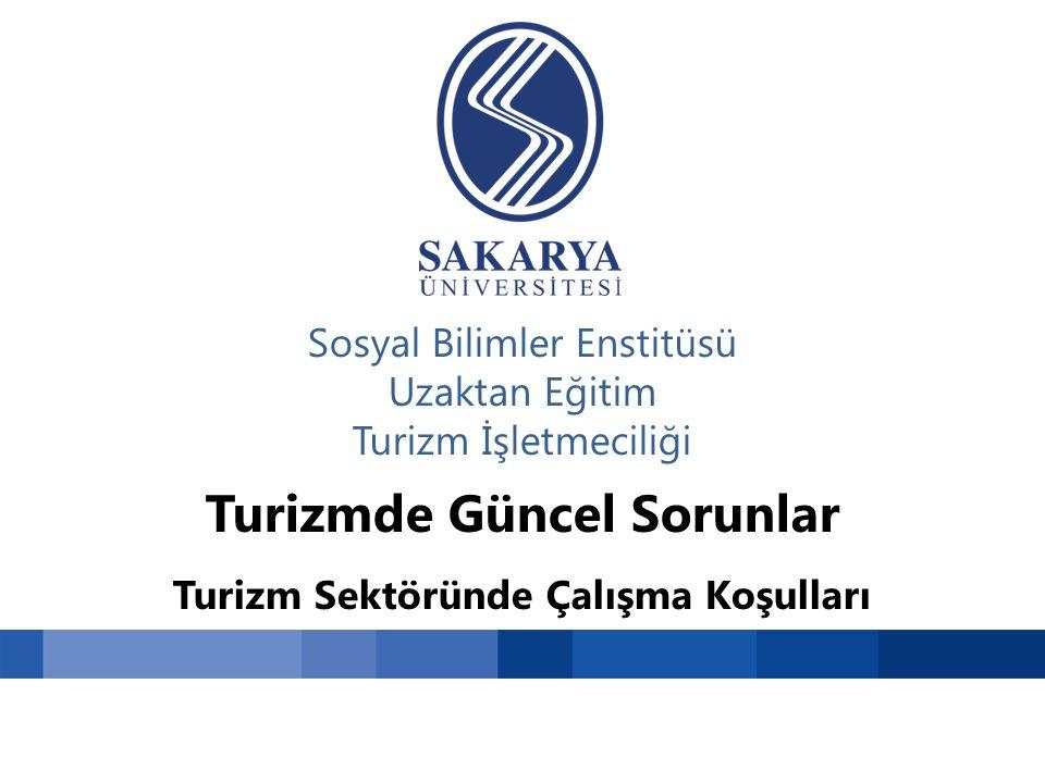 Sosyal Bilimler Enstitüsü Uzaktan Eğitim Turizm İşletmeciliği Turizmde Güncel Sorunlar Turizm Sektöründe Çalışma Koşulları